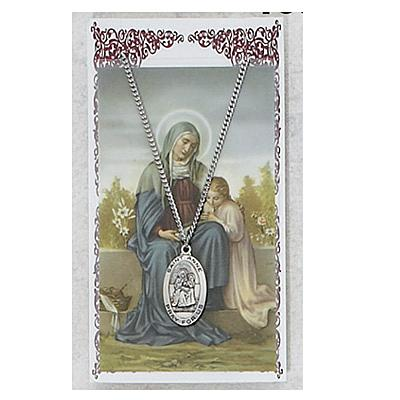 Image for St. Anne Prayer Card w/Chained Medal