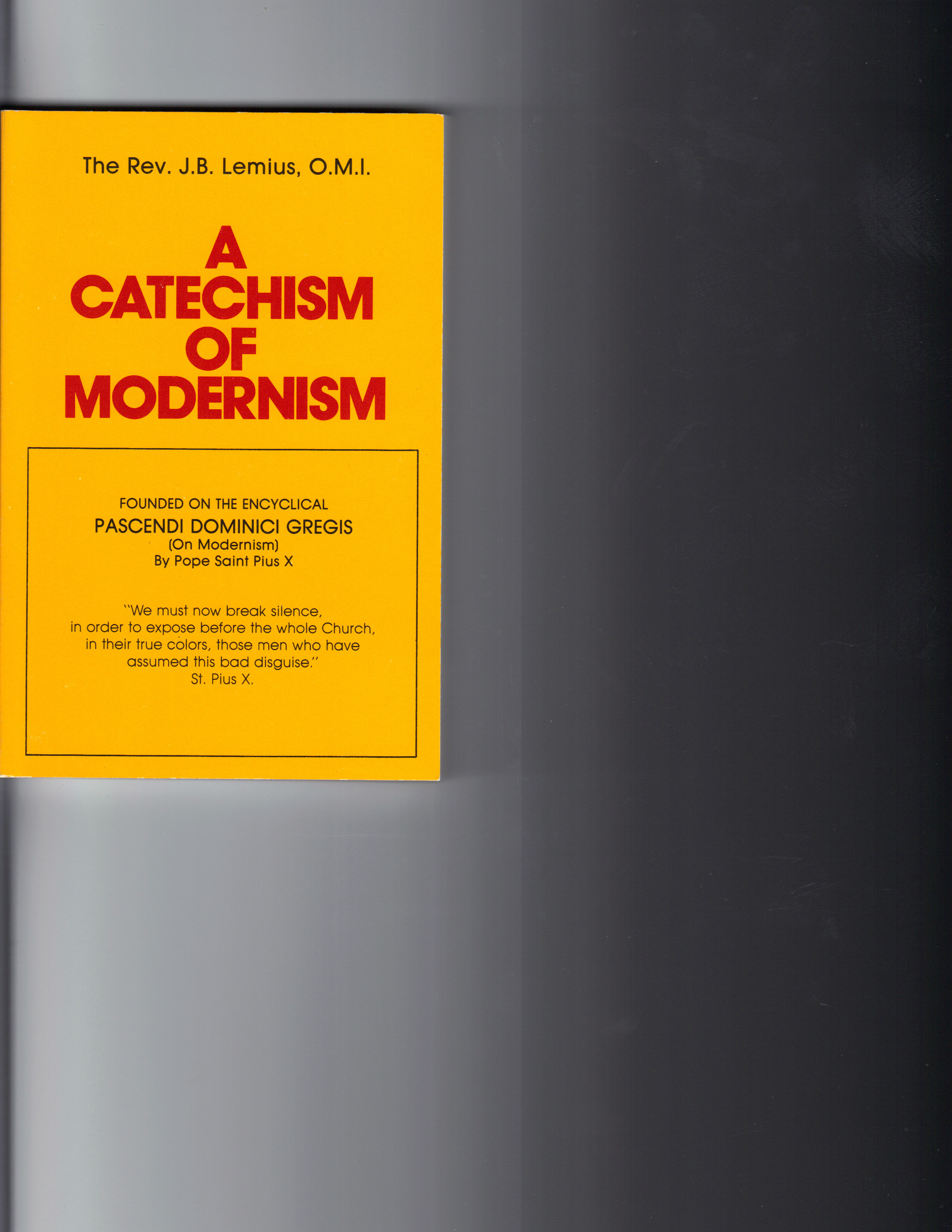 Image for A Catechism of Modernism