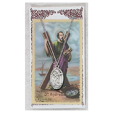 Image for St. Andrew Prayer Card w/Chained Medal