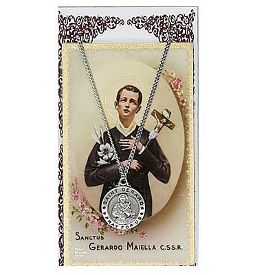Image for St. Gerard Prayer Card Set w/Chained Medal