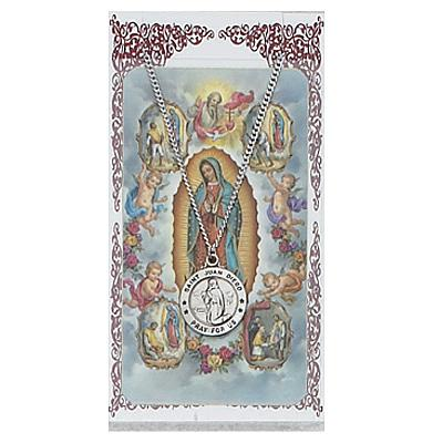 Image for St. Juan Diego Prayer Card w/Chained Medal
