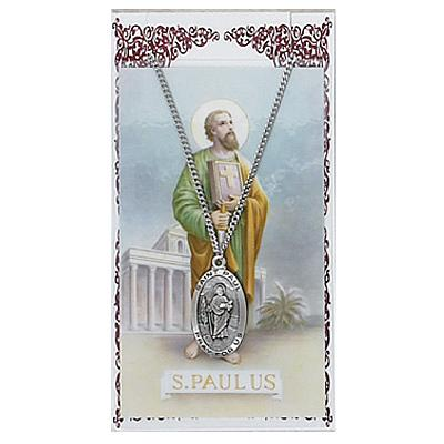 Image for St. Paul Prayer Card w/Chained Medal