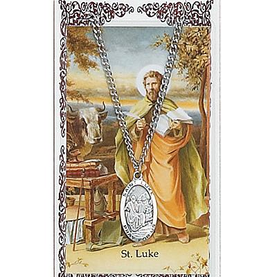 Image for St. Luke Prayer Card w/Chained Medal