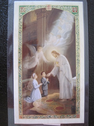 Image for My First Holy Communion Prayer Card