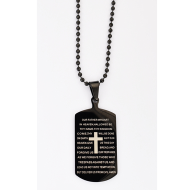 Image for BLACK STAINLESS O.F. DOG TAG