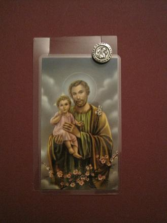 Image for St. Joseph Prayer Card w/ Pin