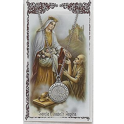 Image for St. Elizabeth Prayer Card w/Chained Medal