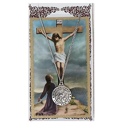 Image for St. John Prayer Card Set w/Chained Medal