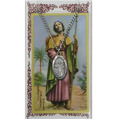Image for St. James Prayer Card w/Chained Medal