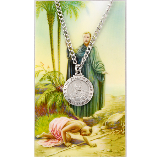 Image for St. Francis Xavier Prayer Card w/Chained Medal