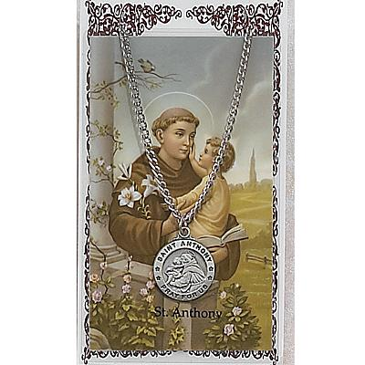Image for St. Anthony Prayer Card w/Chained Medal
