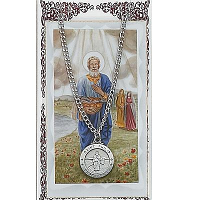 Image for St. Phillip Prayer Card w/Chained Medal