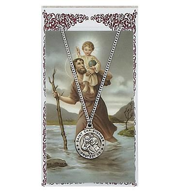 Image for St. Christopher Prayer Card w/Chained Medal