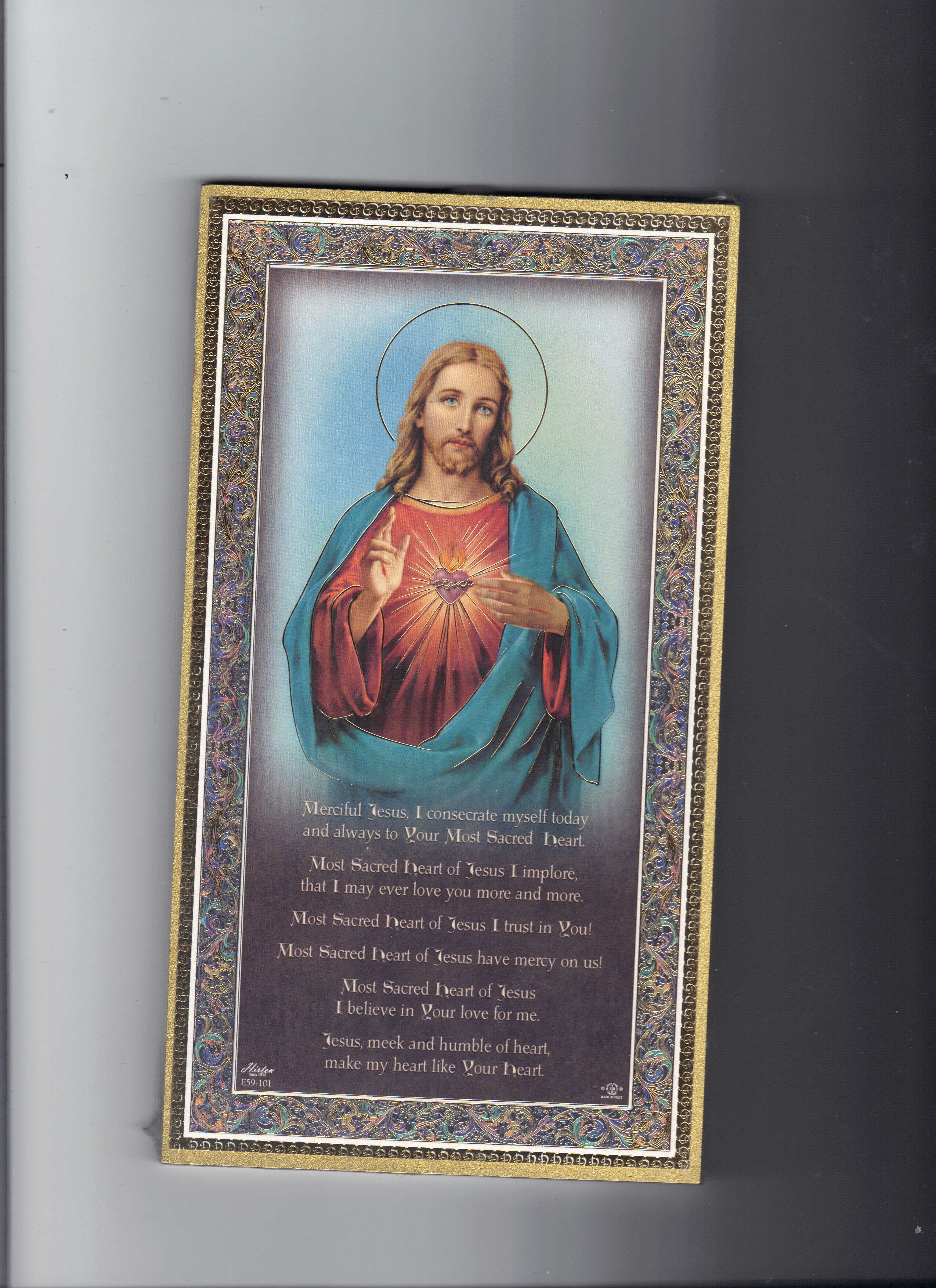 Image for SACRED HEART OF JESUS PLAQUE