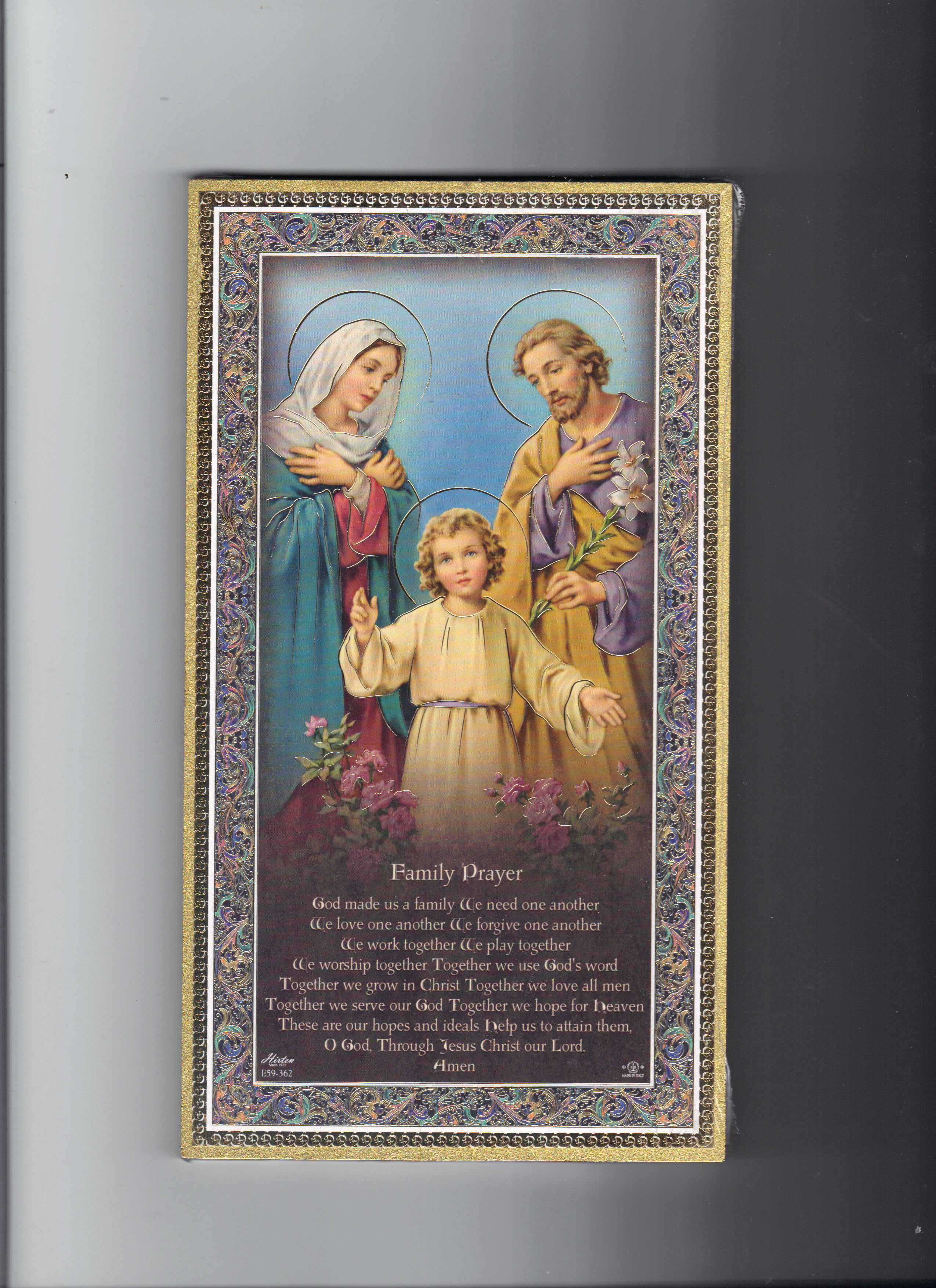 Image for HOLY FAMILY PLAQUE
