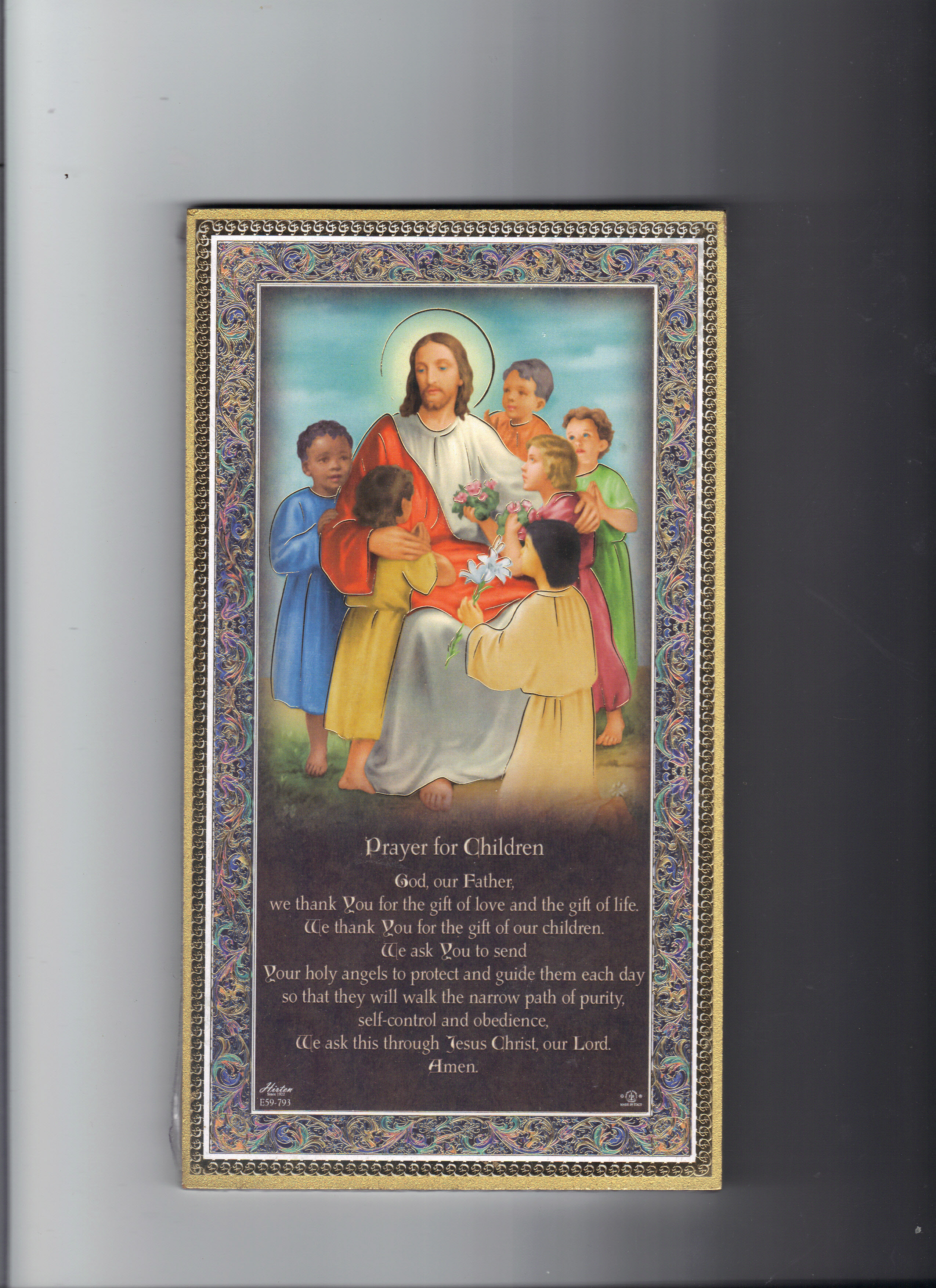 Image for PRAYER FOR CHILDREN PLAQUE