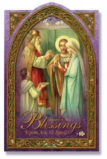 Image for Blessings Holy Card