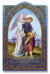 Image for Guardian Angel Holy Card
