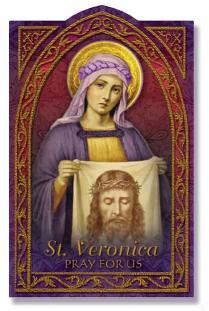Image for St. Veronica Holy Card
