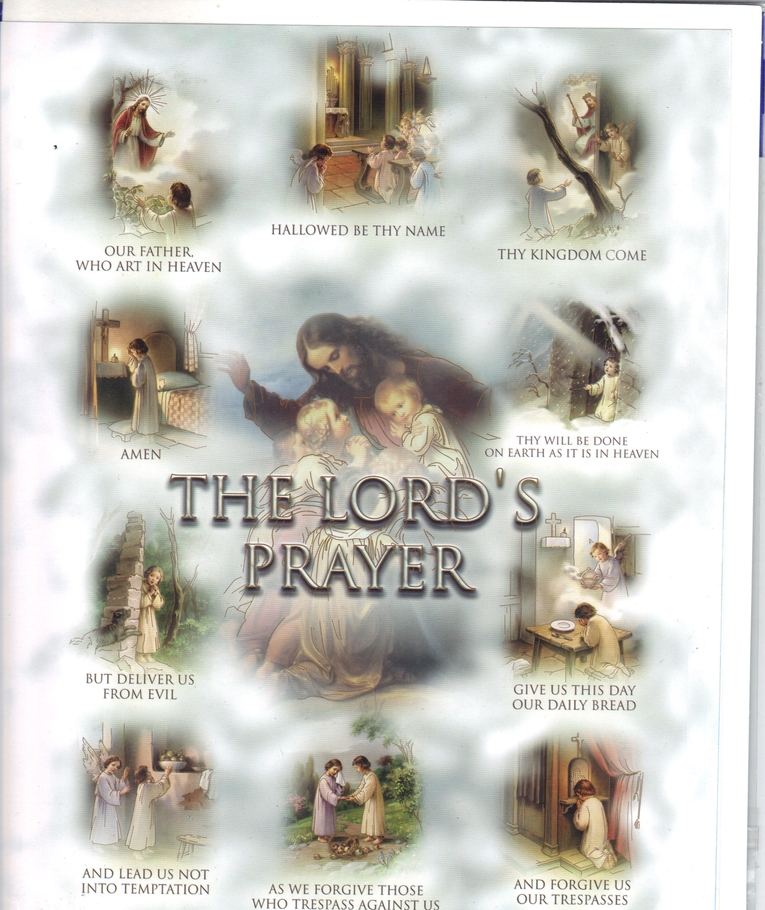 "Image for LORDS PRAYER 8"" X 10"" PRINT"