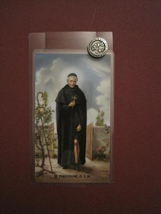 Image for St. Peregrine Prayer Card w/ Pin