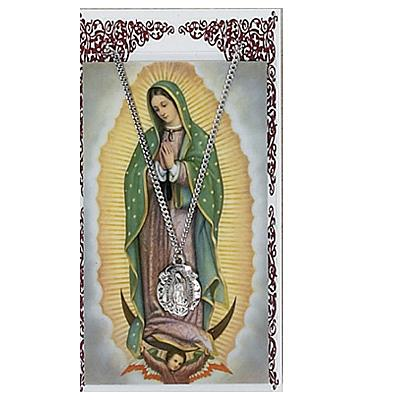 Image for Our Lady Of Grace Prayer Card w/Chained Medal
